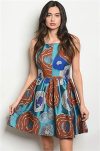 S19-5-1-D24145 TEAL EARTH DRESS 2-2-2