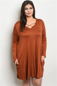 C85-A-7-D9677X EARTH PLUS SIZE DRESS 3-2-1