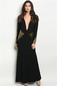 S5-1-1-D78708 BLACK GOLD DRESS 2-2-2-2