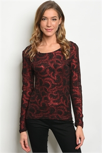S12-8-3-T7292 BLACK RED  TOP 2-2-2