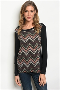 C37-B-5-T69994 BLACK MULTI TOP 2-2-2