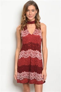 C6-A-3-D9302 WINE BLUSH DRESS 2-2-2