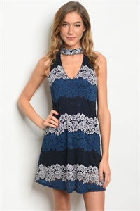 C6-A-5-D9302 NAVY INDIGO DRESS 2-2-2