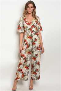 S15-8-2-J6220 CREAM FLORAL JUMPSUIT 3-2-2