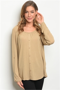 S12-7-3-T6132 TAUPE TOP 2-2-2