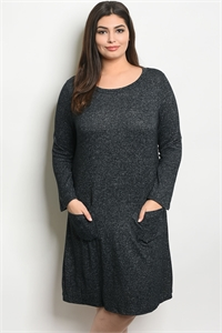 C34-A-7-D11524X BLACK PLUS SIZE DRESS 2-2-2