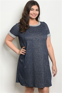 C35-A-1-D14178X NAVY PLUS SIZE DRESS 1-2-2