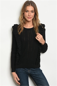 S12-2-2-S121412 BLACK SWEATER 2-2-2