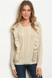 S12-2-2-S121412 OATMEAL SWEATER 2-2-2