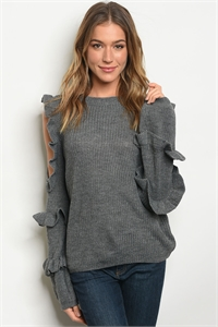 S12-8-3-T121356 GRAY SWEATER 2-2-2