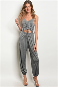 C91-A-2-J7508 CHARCOAL JUMPSUIT 2-2-2