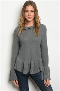 S20-12-6-T121399 GRAY SWEATER 3-4