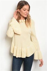 S12-8-5-T121399 CREAM SWEATER 2-2-2