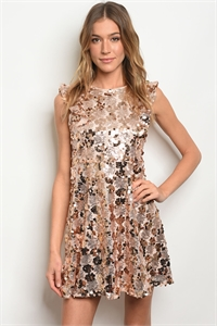 S20-12-4-D42668 GOLD WITH SEQUINS DRESS 4-1-3