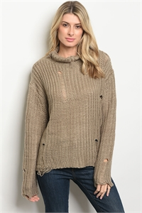 S20-10-1-T13283 TAUPE SWEATER / 3PCS