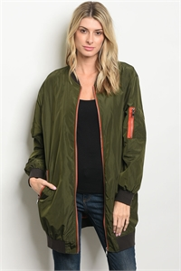 S20-10-1-J3874 ARMY GREEN BOMBER JACKET 1-2-2