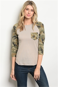 S18-9-1-T6159 TAUPE CAMOUFLAGE TOP 2-2-2