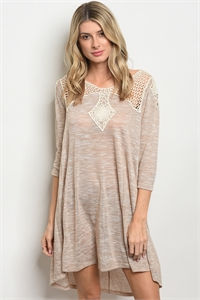 S20-10-2-D3157 TAUPE CREAM DRESS 1-2-2