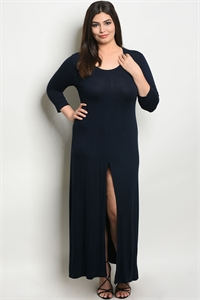 C55-A-7-T555X NAVY PLUS SIZE DRESS 2-2-2