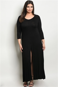 C53-A-7-T555X BLACK PLUS SIZE DRESS 2-2-2