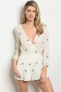 S20-12-1-R5696 IVORY WITH FLOWER EMBROIDERY ROMPER 1-2-2