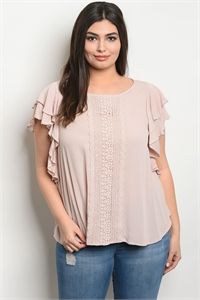 C25-B-1-T28555X SAND PLUS SIZE TOP 2-1-1
