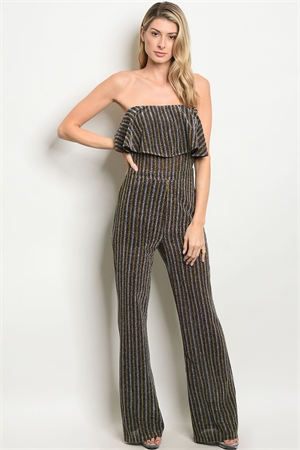 S20-12-4-J50377 SILVER GOLD METALLIC JUMPSUIT 3-2-2