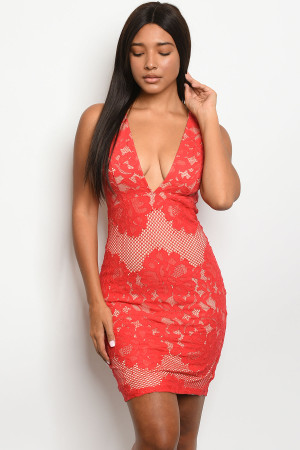 S20-6-5-D23565 RED NUDE DRESS 3-2-1