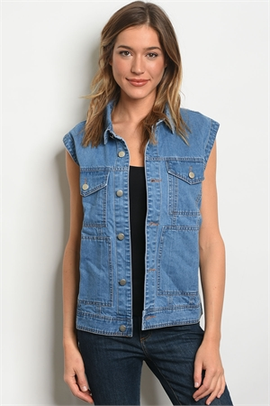 S21-3-1-NA-V91528 DENIM BLUE VEST 3-2-1