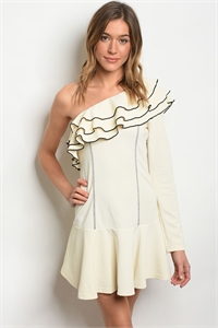 S20-12-6-D24060 CREAM BLACK DRESS 2-2-2