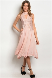 S20-12-4-NA-D14262 BLUSH BLACK W/ SEQUINS DRESS 3-2-1
