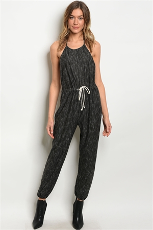 S20-12-4-NA-J60708 CHARCOAL OFF WHITE JUMPSUIT 1-2-2