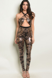 C4-A-2-J10126 BLACK GOLD JUMPSUIT 3-2-1