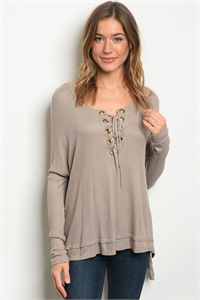 C77-A-3-T7499 TAUPE TOP 2-2-2