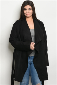 S11-11-1-J5024X BLACK PLUS SIZE JACKET 2-2-2