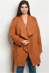 S12-4-2-J5024X CAMEL PLUS SIZE JACKET 2-2-2
