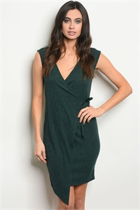 C96-A-1-D10210 GREEN WITH GLITTER DRESS 3-2-2  ***WARNING: California Proposition 65***