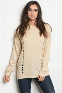 S12-12-3-T121383 OATMEAL SWEATER 2-2-2