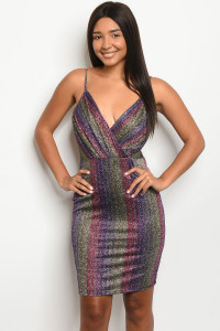 C34-A-2-D23626 MULTI COLOR DRESS 2-2-2