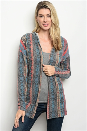 S13-1-3-T5089 MULTI COLOR CARDIGAN 2-2-2
