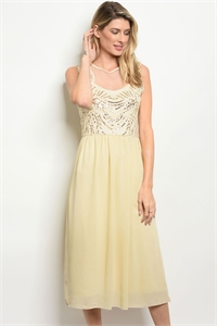 S16-12-3-D4666 TAN GOLD WITH SEQUINS DRESS 1-2-2