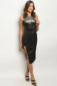 S12-9-1-D0131 BLACK METALLIC DRESS 3-2-1  ***WARNING: California Proposition 65***