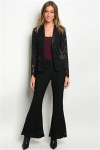 S10-20-3-SET16162 BLACK JACKET & PANTS SET 3-2-1