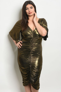 S21-7-1-D7144X GOLD PLUS SIZE DRESS 2-2-2