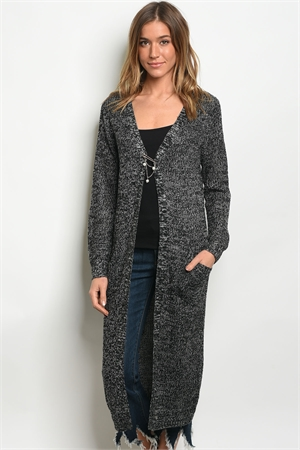 S11-14-4-C26030 BLACK GRAY CARDIGAN 3-3