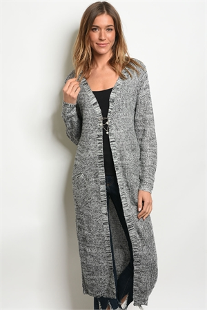 S11-12-2-C26030 GRAY BLACK CARDIGAN 3-3