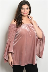 S21-9-3-T3678X MAUVE PLUS SIZE TOP 2-2-2