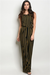 C36-A-2-J0198X BLACK MUSTARD PLUS SIZE JUMPSUIT 2-2-2