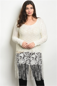 SA3-0-5-D7257X IVORY PLUS SIZE DRESS 2-2-2