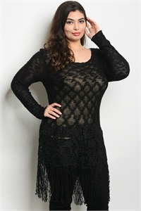 SA3-0-5-D7257X BLACK PLUS SIZE DRESS 2-2-2